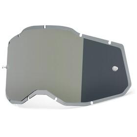 100% Injected Anti-Fog Replacement Lenses Gen2, Plateado